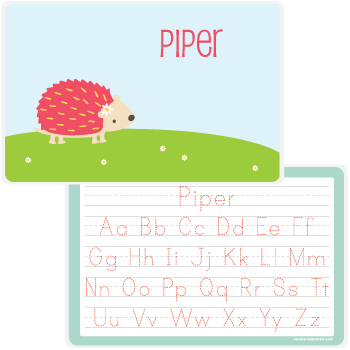 personalized kids placemat | hedgehog