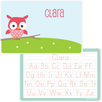 personalized kids placemat | owl