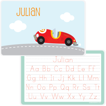 personalized kids placemat | race car