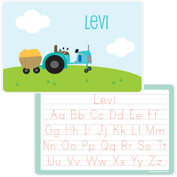personalized kids placemat | tractor