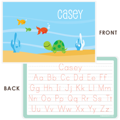 personalized kids placemat | turtle