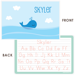 personalized kids placemat | whale
