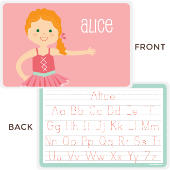 personalized kids placemat | ballerina