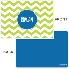 personalized chevron placemat | green