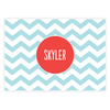 personalized chevron placemat | pool