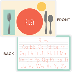 personalized kids placemat | place setting