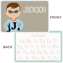 personalized kids placemat | superhero boy