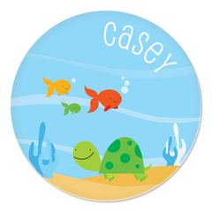 personalized plate | turtle