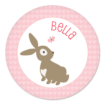 Valentine's Day plate | bunny