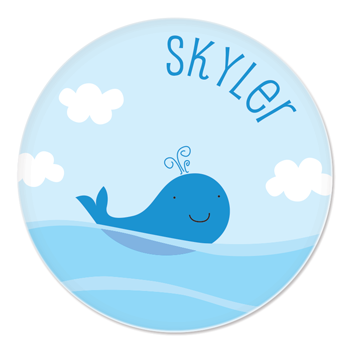personalized plate | whale