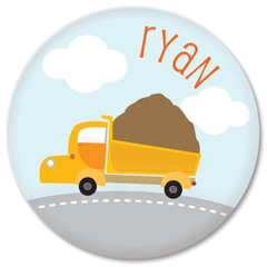 personalized plate | dump truck