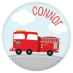 personalized plate | fire truck