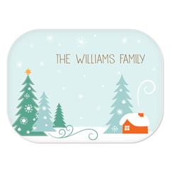 personalized platter | winter scene