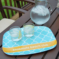 personalized platter | pool quatrefoil