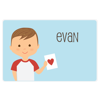 Valentine's Day placemat | boy