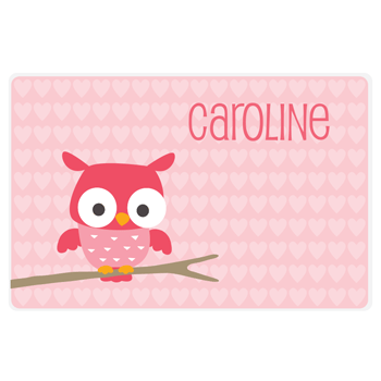 Valentine's Day placemat | owl
