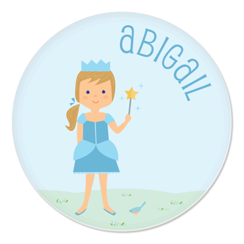 personalized childrens plate | princess
