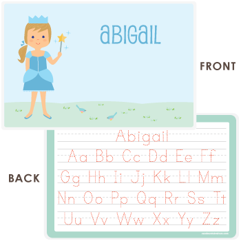 personalized kids placemat | princess