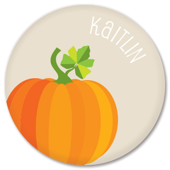personalized pumpkin plate | natural