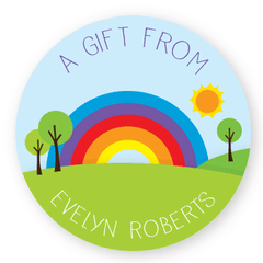 gift labels | rainbow