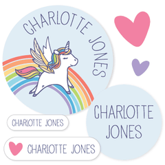 name labels | rainbow unicorn