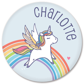 personalized kids plate | rainbow unicorn hidden ...  sc 1 st  Sarah + Abraham & personalized kids plate | rainbow unicorn | sarah + abraham