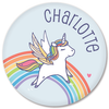 personalized kids plate | rainbow unicorn