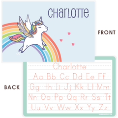 personalized kids placemat | rainbow unicorn