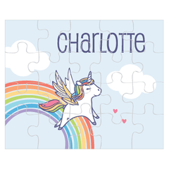 personalized puzzle | rainbow unicorn