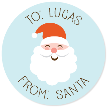 "Santa Claus gift labels | 2.5"" circles"