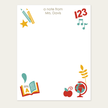 personalized teacher notepad | school days