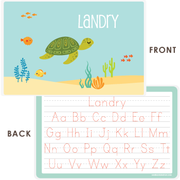 personalized kids placemat | sea turtle
