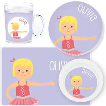 personalized mealtime set | ballerina