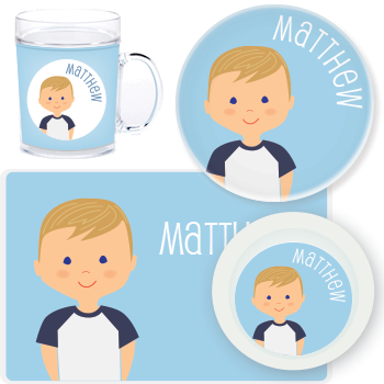 personalized mealtime set | boy