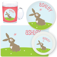 personalized mealtime set | bunny