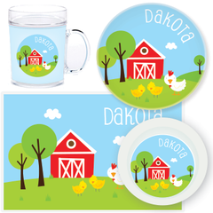 personalized mealtime set | chickens
