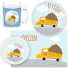 personalized mealtime set | dump truck