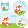 personalized mealtime set | cheerful fox