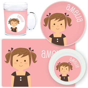 personalized mealtime set | girl