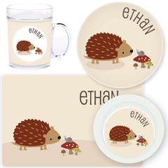 personalized mealtime set | natural hedgehog