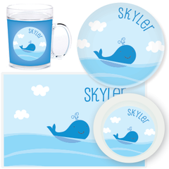 personalized mealtime set | whale