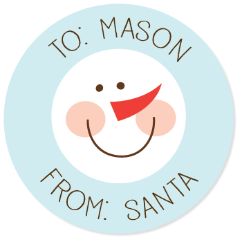 "snowman gift labels | 2.5"" circles"