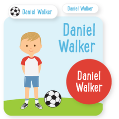 custom name labels | soccer | boy