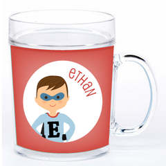 personalized cup | superhero boy