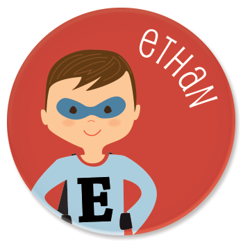 personalized childrens plate | superhero boy