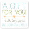 "personalized gift labels | 2.5"" squares"