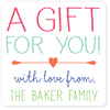 personalized gift labels | pink squares