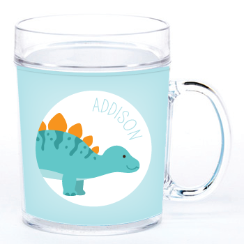 personalized cup | stegosaurus
