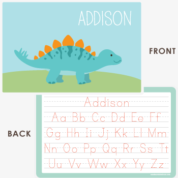 personalized kids placemat | stegosaurus