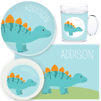 personalized mealtime set | stegosaurus